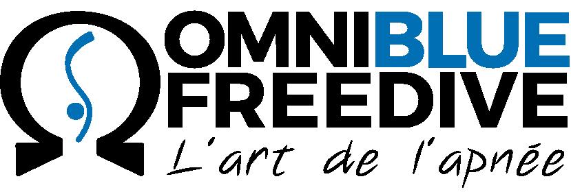 Omniblue freedive, l'art de l'apnée. Nouveau logo de l'école de plongée en apnée omniblue freedive